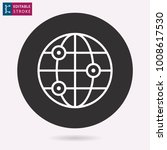 globe   outline icon. editable... | Shutterstock .eps vector #1008617530