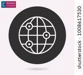 globe   outline icon. editable...   Shutterstock .eps vector #1008617530