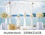 floral wedding arch decoration  ...   Shutterstock . vector #1008621628