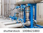 water pump station and pipeline ... | Shutterstock . vector #1008621883