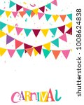 colorful party flags with... | Shutterstock . vector #1008624838