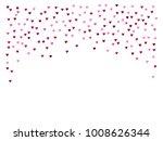 valentines day vector confetti... | Shutterstock .eps vector #1008626344