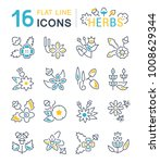 set of vector line icons  sign... | Shutterstock .eps vector #1008629344