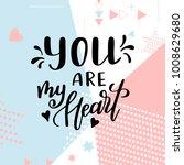 valentine day poster. hand... | Shutterstock .eps vector #1008629680