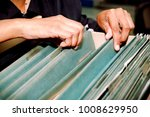 documents in the office  ... | Shutterstock . vector #1008629950