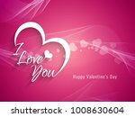 abstract happy valentine's day... | Shutterstock .eps vector #1008630604