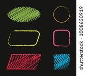 hand drawn square  ellipse ...   Shutterstock .eps vector #1008630919