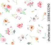 seamless summer pattern with... | Shutterstock . vector #1008632290