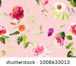 seamless summer pattern with... | Shutterstock . vector #1008633013