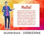 man lecturer for office... | Shutterstock .eps vector #1008633466