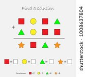 mathematics game with pictures  ... | Shutterstock .eps vector #1008637804