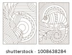 set contour illustrations of... | Shutterstock .eps vector #1008638284