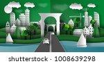 3d illustration of paper towns... | Shutterstock .eps vector #1008639298