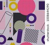 trendy geometric flat pattern | Shutterstock .eps vector #1008644290