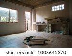 incomplete renovate white room... | Shutterstock . vector #1008645370