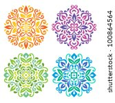 ornamental round floral pattern....