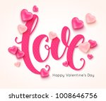 love calligraphic inscription... | Shutterstock .eps vector #1008646756