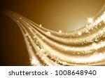 wavy golden satin  glittering... | Shutterstock .eps vector #1008648940