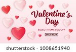 valentines day sale background... | Shutterstock .eps vector #1008651940