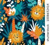 cute jungle baby endless... | Shutterstock .eps vector #1008652414