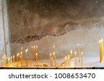 memorial candles lits | Shutterstock . vector #1008653470