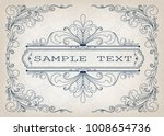 vintage frame with beautiful...   Shutterstock .eps vector #1008654736