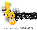 grunge music background with g... | Shutterstock .eps vector #100866124