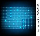 blue lines technology. eps... | Shutterstock . vector #100866160