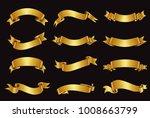 realistic ribbons set.ribbon... | Shutterstock .eps vector #1008663799
