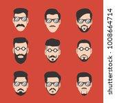 guide of mustache and beard man ... | Shutterstock .eps vector #1008664714