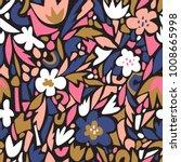terrazzo seamless pattern.... | Shutterstock .eps vector #1008665998