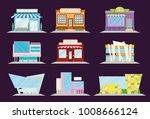 shop and restaurant facade set  ... | Shutterstock .eps vector #1008666124