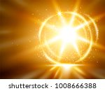 golden glittering background ... | Shutterstock .eps vector #1008666388