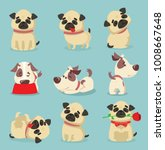vector illustration set of cute ... | Shutterstock .eps vector #1008667648