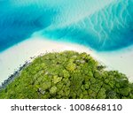 Aerial photographs of the Tallebudgera Creek inlet with Burleigh Heads to the bottom of frame. Gold Coast, Queensland, Australia.