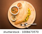 masala dosa is a south indian... | Shutterstock . vector #1008673570