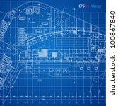 urban blueprint  vector .... | Shutterstock .eps vector #100867840