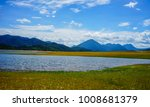 lake with mountains at sunny... | Shutterstock . vector #1008681379