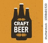 bottles with beer and text.... | Shutterstock .eps vector #1008681520
