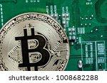 golden bitcoin coin. new...   Shutterstock . vector #1008682288
