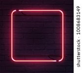 square pink neon sign. vector... | Shutterstock .eps vector #1008683149