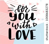 valentine day poster. hand... | Shutterstock .eps vector #1008683278