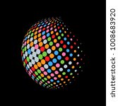 abstract globe dotted sphere ... | Shutterstock .eps vector #1008683920