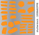 set of hand painted orange... | Shutterstock .eps vector #1008683998