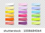 post note sticker set isolated... | Shutterstock .eps vector #1008684064