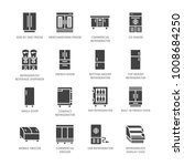 refrigerators flat glyph icons. ... | Shutterstock .eps vector #1008684250