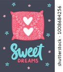 vector poster with phrase and... | Shutterstock .eps vector #1008684256
