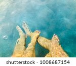 couples feet in hot tub jacuzzi ... | Shutterstock . vector #1008687154