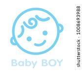 baby boy face icon symbol... | Shutterstock .eps vector #1008693988