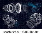 mechanical diagram  vector...